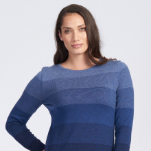 Dovedale Striped Jumper In Blue